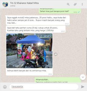 Alhamdulillah Testimoni Tahu Mafia Paket Gangster 087748824888 Usaha Tahu Krispi TERLARIS