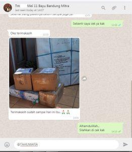 Alhamdulillah barang sampai ke tujuan dengan utuh 087748824888 Usaha Tahu Krispi TERLARIS